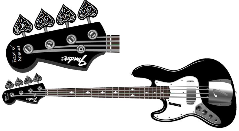 Bass of Spades Head Stock Design