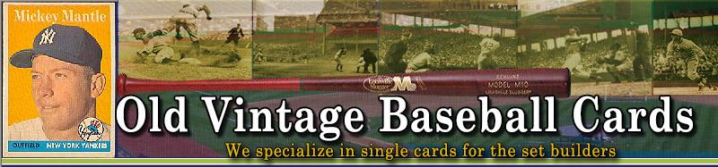 Old Vintage Baseball Cards
