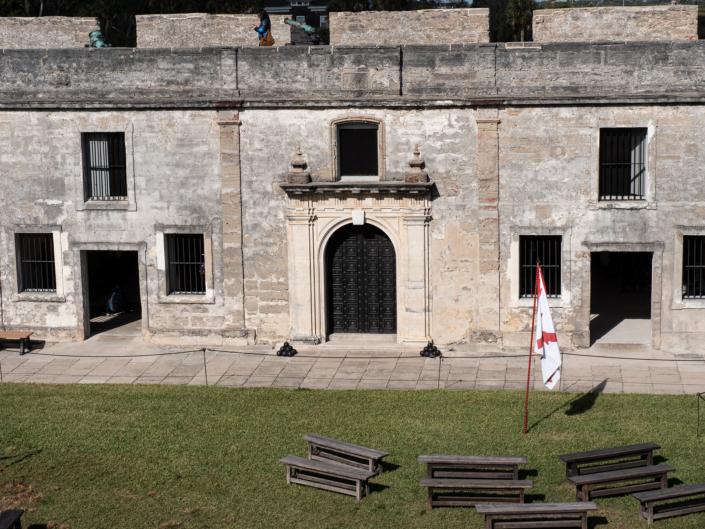 Gate in Courtyard