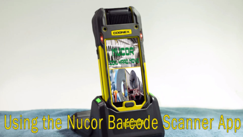 Using Nucor Barcode Scanner App